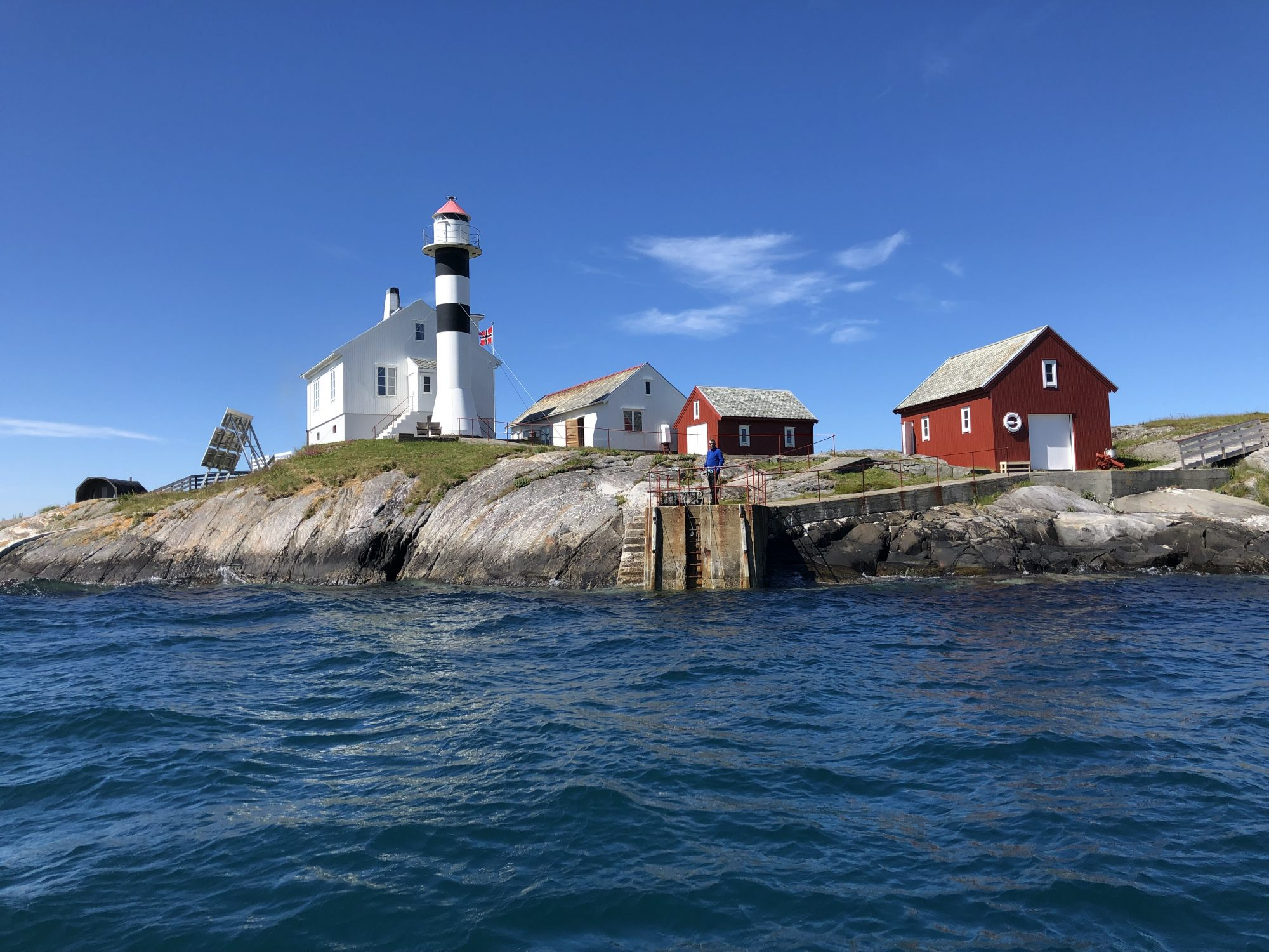 Flatflesa fyr lighthouse audioguide history lydguide voice of norway