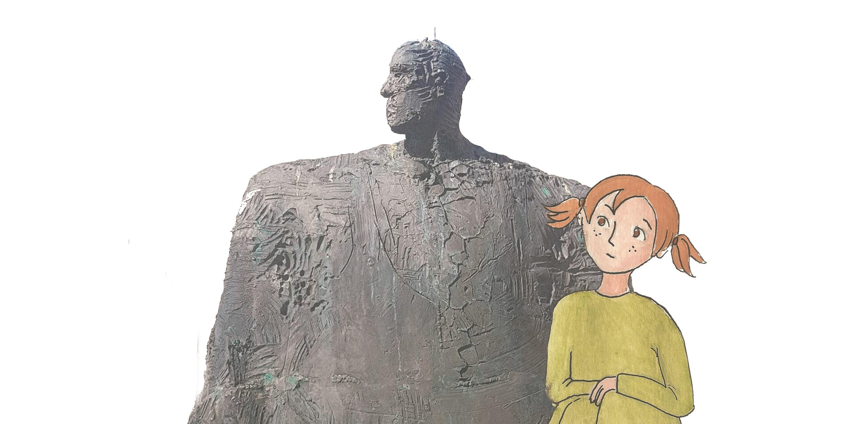 Borgny-Bokkeren-Statue-Alesund-Guiding-historie-Voice-Norway