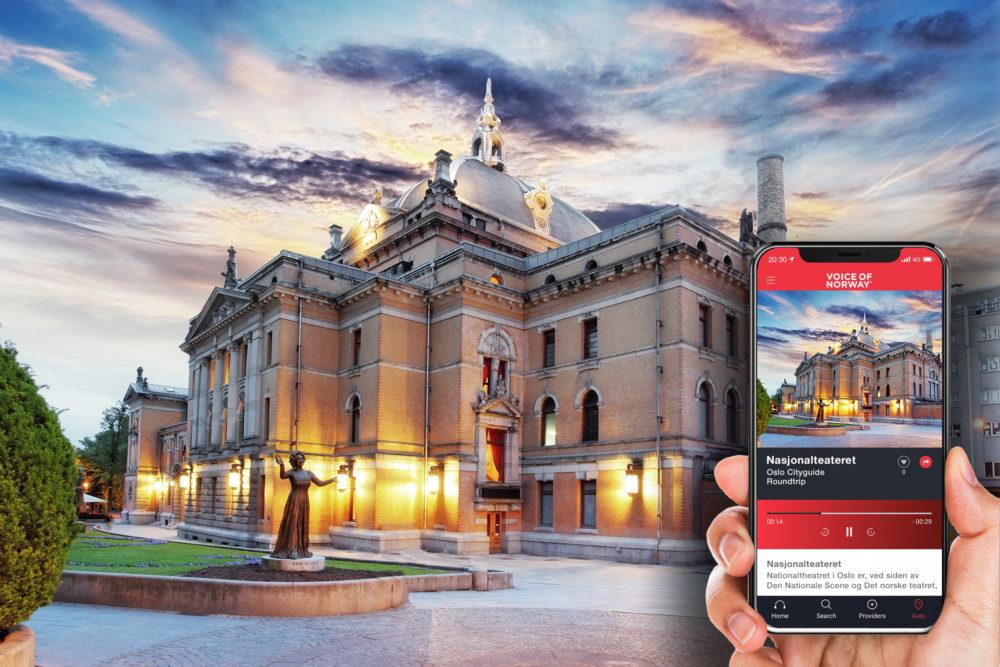 Nasjonalteateret audioguide lydguide reiseguide app voice of norway turisti i norge reiseapp