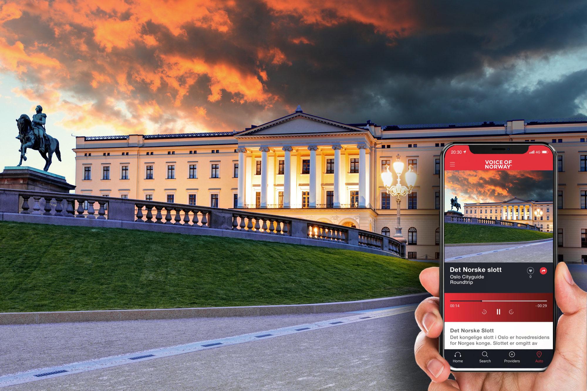 Slottet audioguide lydguide reiseguide app voice of norway turisti i norge reiseapp