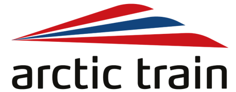 Arctic Train logo voice of norway lydguide audioguide