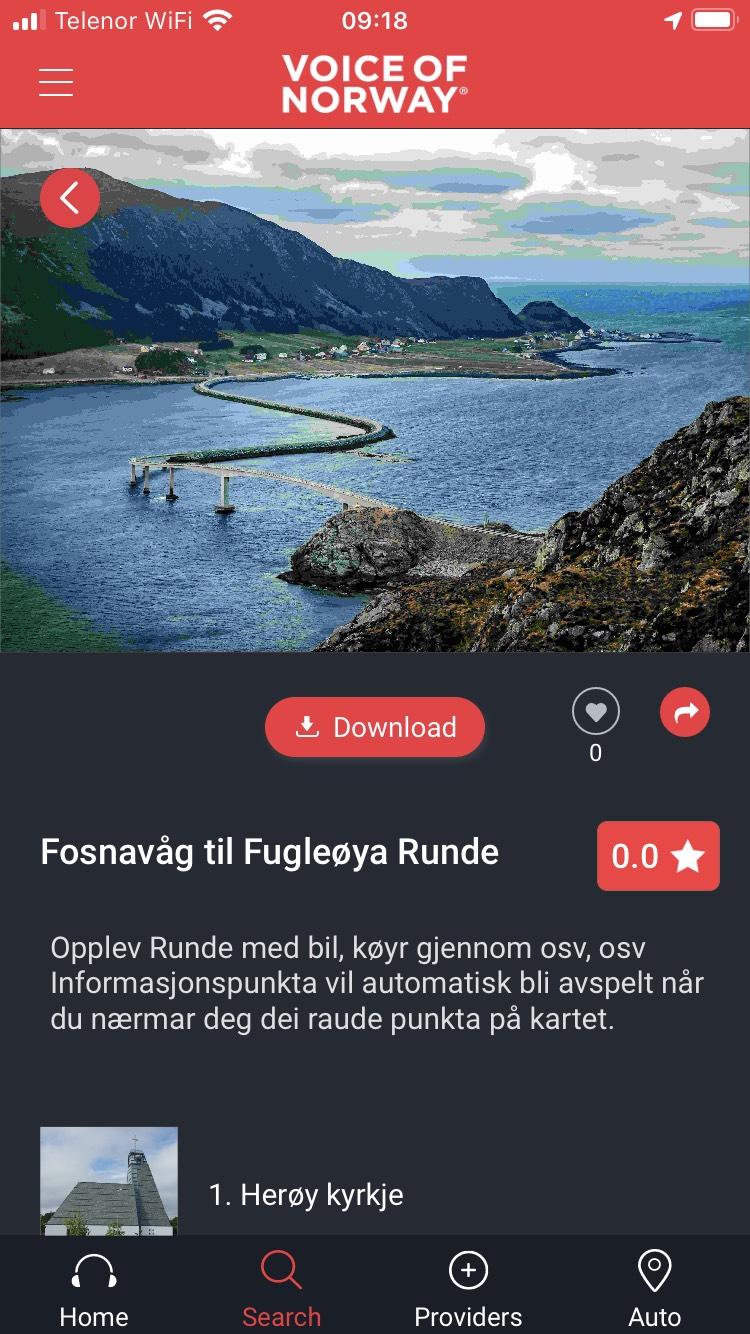 Voice-Of-Norway-havlandet-audiovisuell-reiseguide turistguide-fosnavågapp