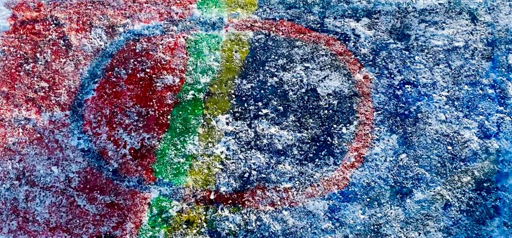 Samisk flagg laget i snø
