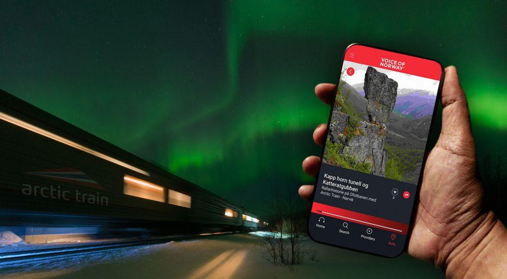 ArcticTrain Voiceofnorway audioguide lydguide turistguide reiseguide