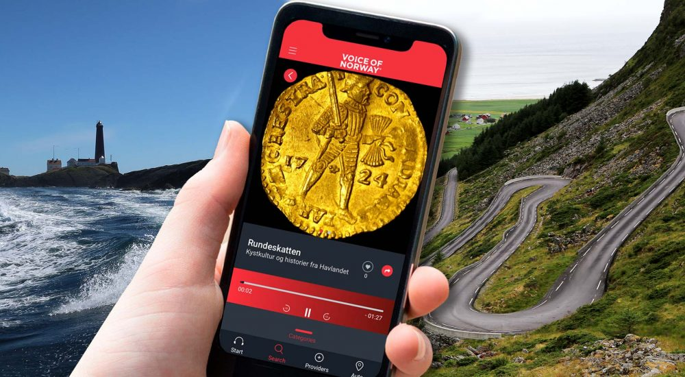Audioguide lydguide reiseguide voice of norway buss baat tog persontransport
