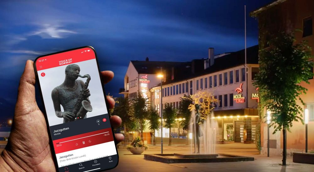Molde sentrum Voice of norway audioguide lydguide turistguide reiseguide