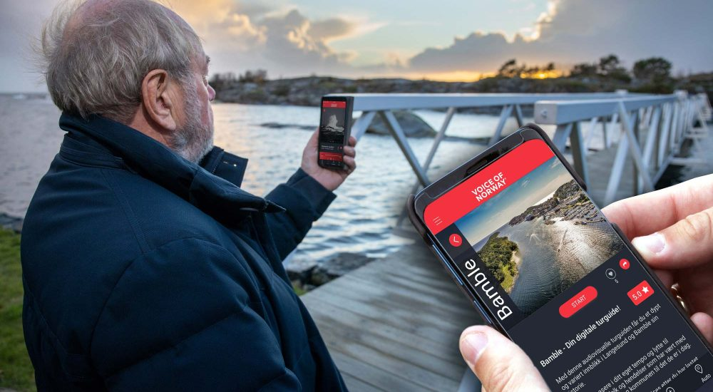 Opplev Bamble med audioguide lydguide voiceOfNorway