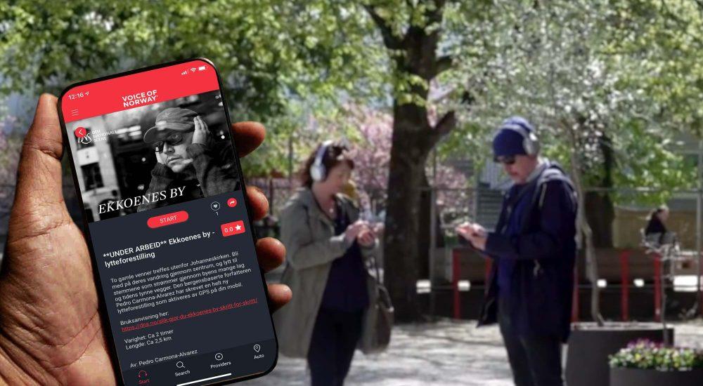 Vandreteater i Bergen Voice Of Norway audioguide lydguide